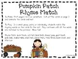 Pumpkin Rhyming Center