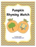 Pumpkin Rhyming Match