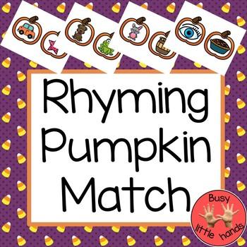 Pumpkin Rhyming Word Match