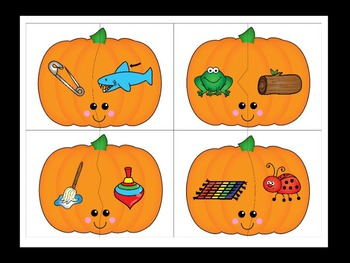 Pumpkin Rhyming Word Puzzles