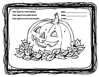 Pumpkin Rhythm Coloring