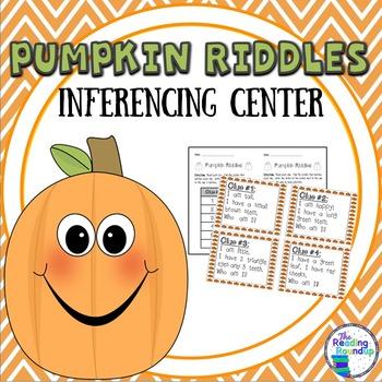 Inferencing Literacy Center:  Pumpkin Riddles