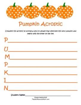 Pumpkin Roll Activity Unit