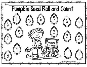 Pumpkin Roll & Count/ Roll & Add