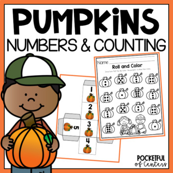 Pumpkin Roll and Count Numbers 1-12