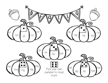 Pumpkin Roll and Read {Short Vowels}