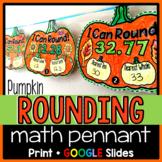 Pumpkin Rounding Decimals Math Pennants - print and digital