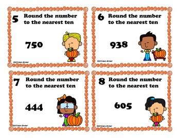 Pumpkin Rounding to the Nearest Ten