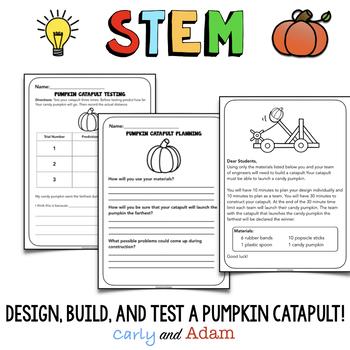 Pumpkin Candy Catapult STEM Activity