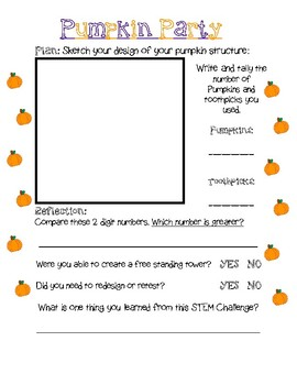 Pumpkin STEM Design Challenge