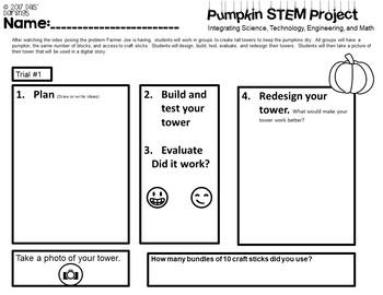 Pumpkin STEM Project: UPDATED!