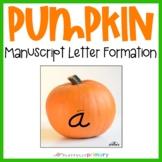 Pumpkin Sand Tray Uppercase & Lowercase Letters | D'Nealian