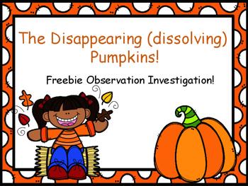 Pumpkin Science Freebie