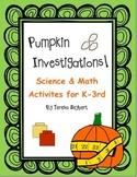 Pumpkin Science & Math Investigations