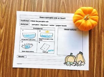 Pumpkin Science - Science with Pumpkins for Kindergarten, preschool, and First