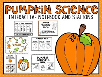 Pumpkin Science Stations and Interactive Notebook Activities
