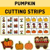 Pumpkin Scissor Practice - Cutting Strips