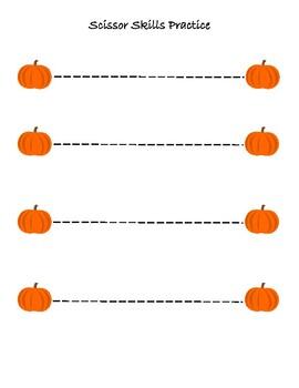 Pumpkin Scissor Skills Practice