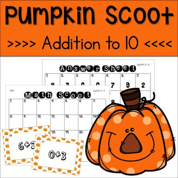 Halloween Scoot Addition to 10