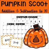 Pumpkin Math Scoot Game