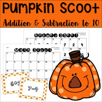Pumpkin Math Scoot Game