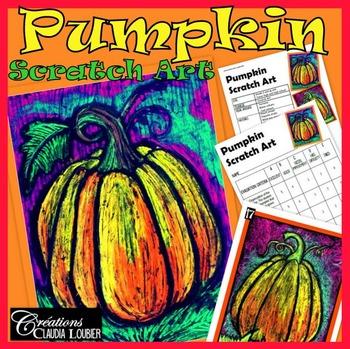 Pumpkin Scratch Art : Halloween and Fall Art Lesson Plan