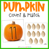 Pumpkin Seed 1-20 Count and Match
