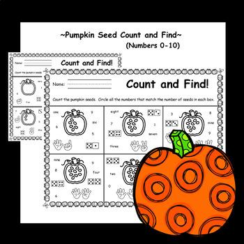 Pumpkin Seed Count - (Pumpkin Number Puzzles and Pumpkin Number Match)