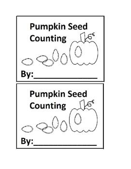 Pumpkin Seed Counting Emergent Reader book for Preschool or Kindergarten