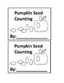 Pumpkin Seed Counting Emergent Reader book for Preschool o