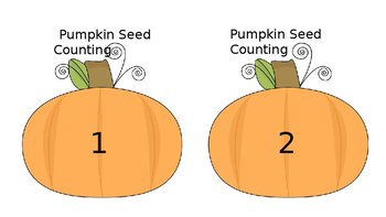Pumpkin Seed Counting Cards