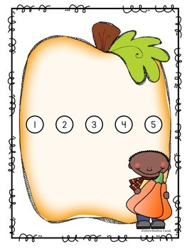 Pumpkin Seed Counting Hands-On Math Mats 1-25 Low Prep (Pre-K to Kindergarten)