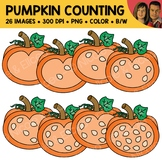 Pumpkin Seed Counting Scene Clipart