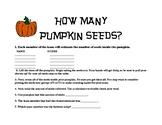 Pumpkin Seed Estimating