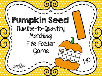 Pumpkin Seed File Folder Game: Number to Quantity 1-10