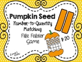 Pumpkin Seed File Folder Game: Number to Quantity 11-20