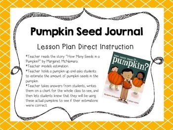 Pumpkin Seed Journal {Common Core Aligned}