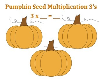 Pumpkin Seed Multiplication Games - Times Tables - 3 Facts