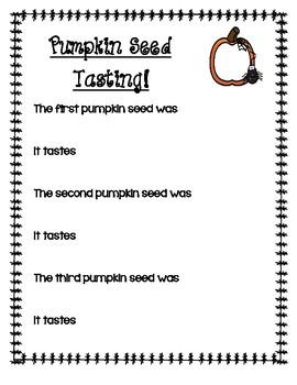 Pumpkin Seed Tasting Activity