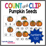 Pumpkin Seeds Count and Clip Cards