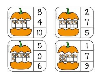 Pumpkin Seeds Count and Match