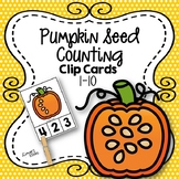 Pumpkin Seeds Counting Clip Cards 1-10