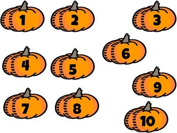 Pumpkin Seeds Number Match 1-20