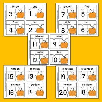 Pumpkin Seeds Number Puzzles