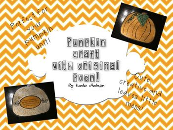 Pumpkin Seeds are Everywhere {Pumpkin Poem Craftivity}