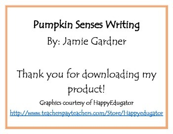 Pumpkin Senses Writing