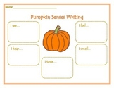 Pumpkin Senses Writing