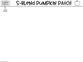 Pumpkin Sensory Bin for S Blends and Describing