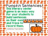 Pumpkin Sentence Building