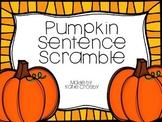 Pumpkin Sentence Scramble